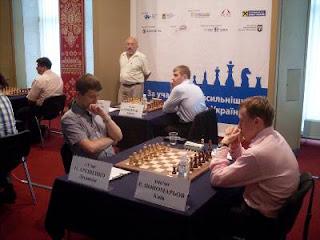 Echecs à Kiev : Alexander Areschenko (2694) annule face à Ruslan Ponomariov (2754) sur une berlinoise © photo Chess & Strategy