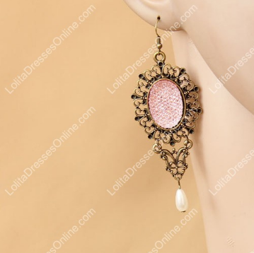 http://www.lolitadressesonline.com/pink-vintage-lace-and-pearls-rose-lolita-earring-p-689.html