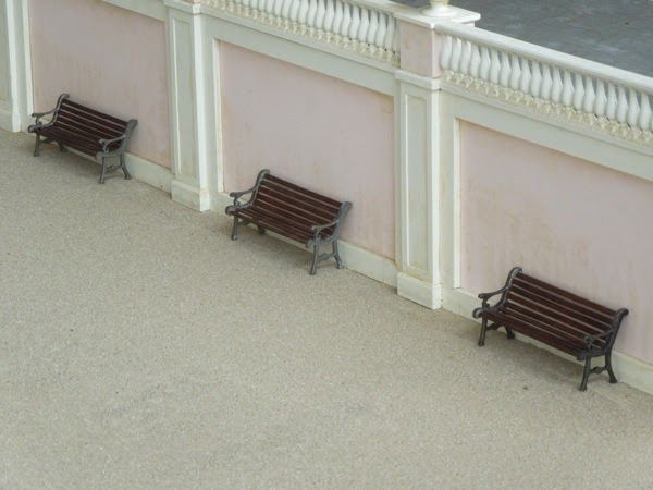 Grand Budapest Hotel movie model benches