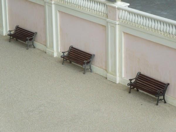 Grand Budapest Hotel movie model benches