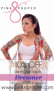 Quote 'Dreamer' to enjoy 10% off at Pink N Proper