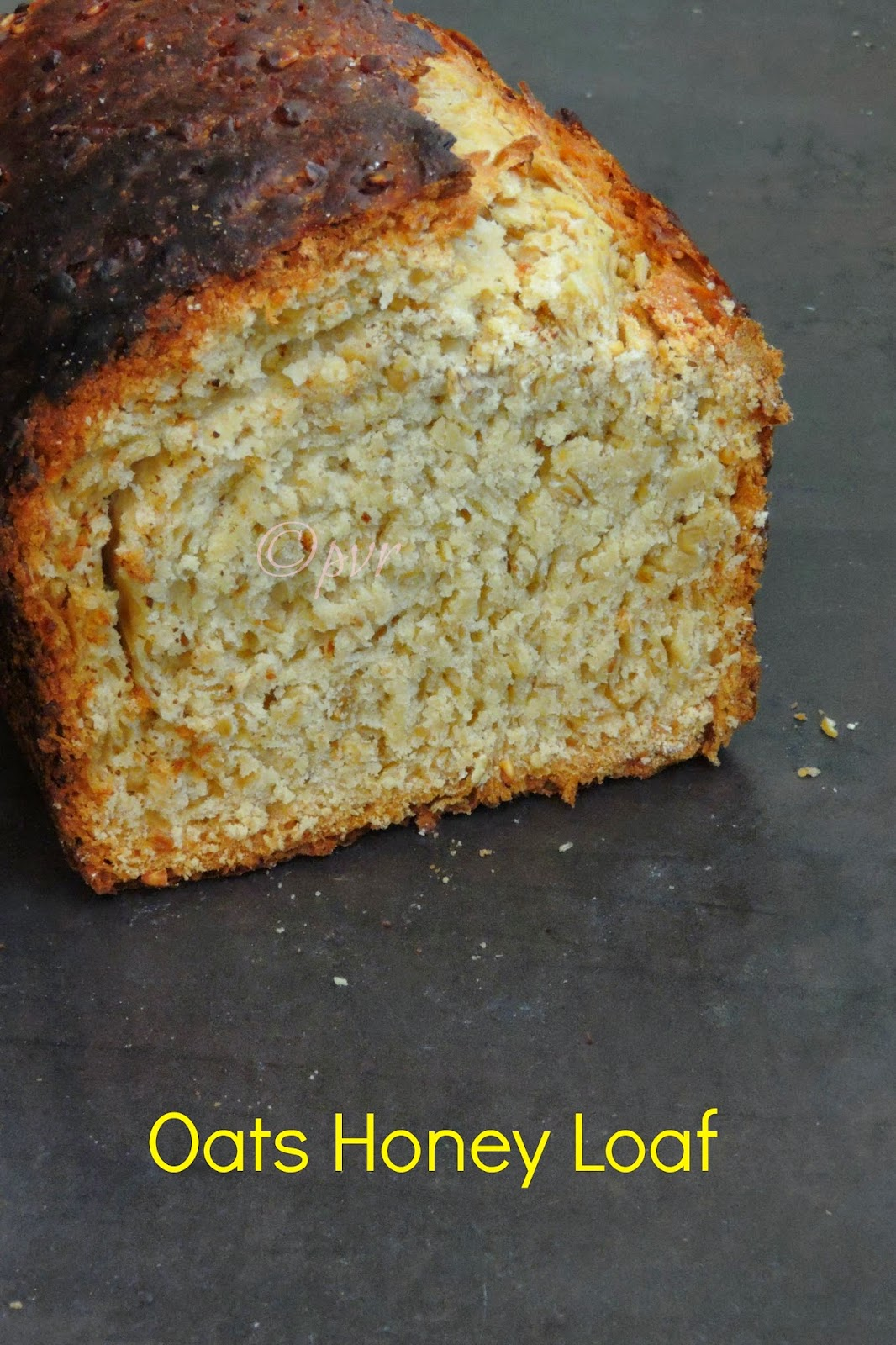 Oats Honey Loaf, Oats Honey Bread, Quick honey bread