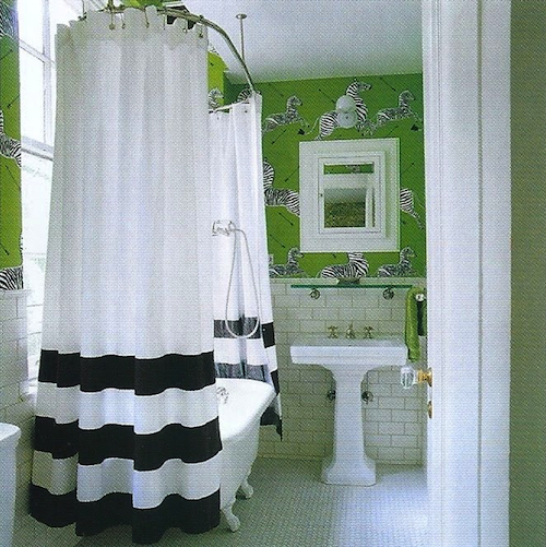 Dream home design darling la dolce vita Bold black and white striped curtains