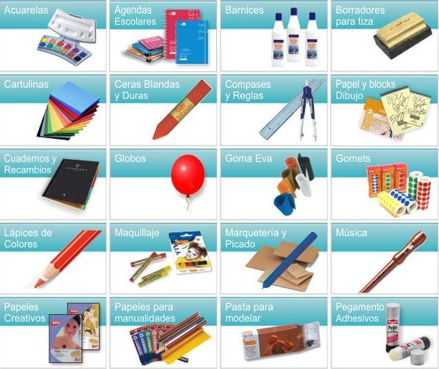 Venta de material escolar los milagros material escolar for Material de oficina precios