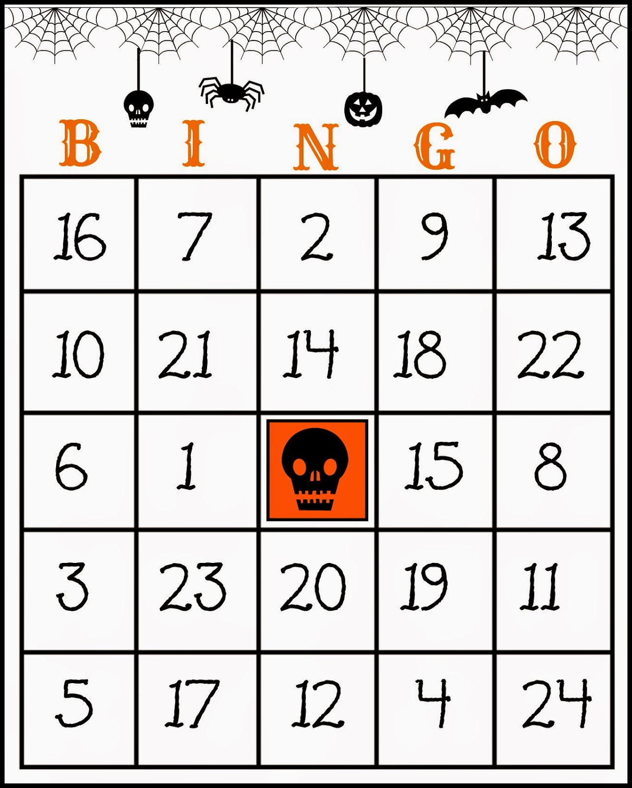 It's just a picture of Witty Free Halloween Bingo Printable