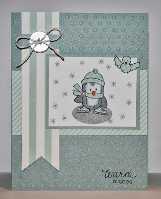 Penguin winter card by Indy for Newton's Nook Designs Inky Paws Challenge #5
