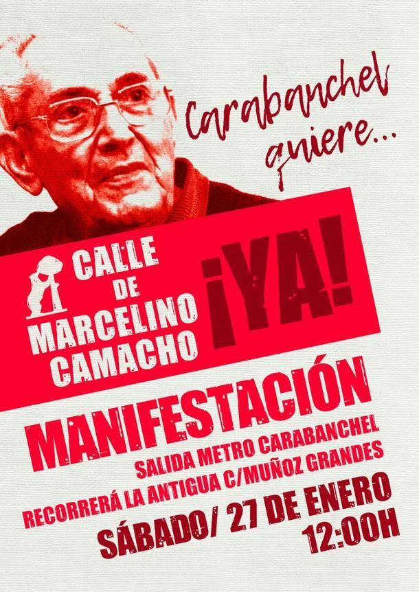 sábado 27  Paseo de Marcelino Camacho
