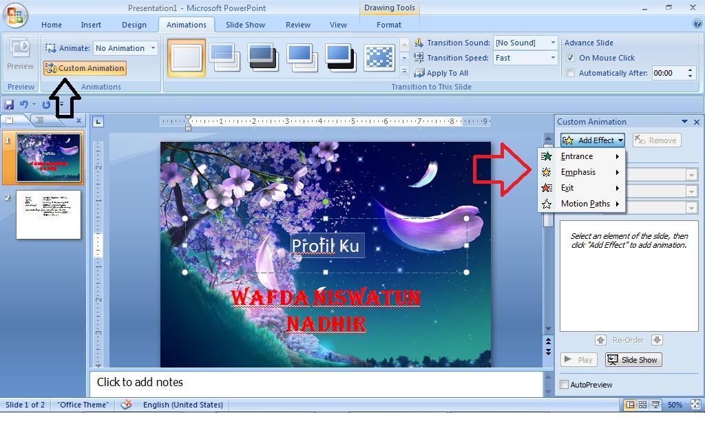 Tips Cara Membuat Icon Bergerak di Presentasi Microsoft