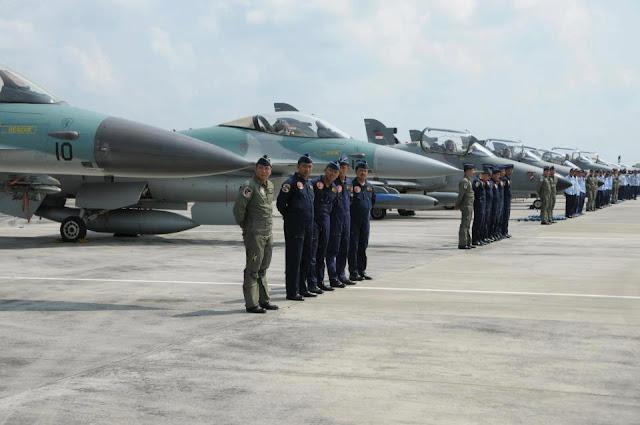 Pesawat TNI AU Hancurkan Sasaran di Asembaris