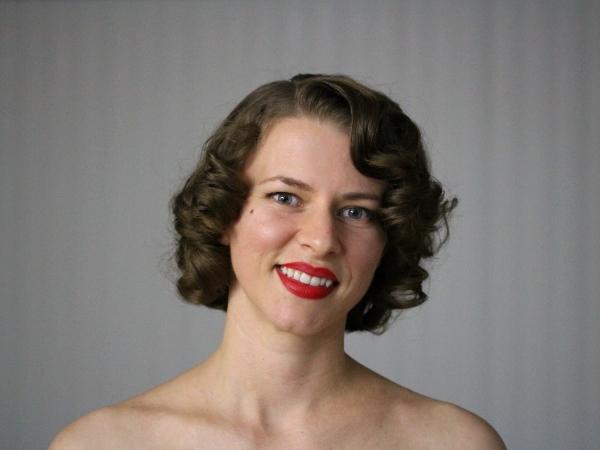 Pin Curls #1940s #1950s #hair #vintage