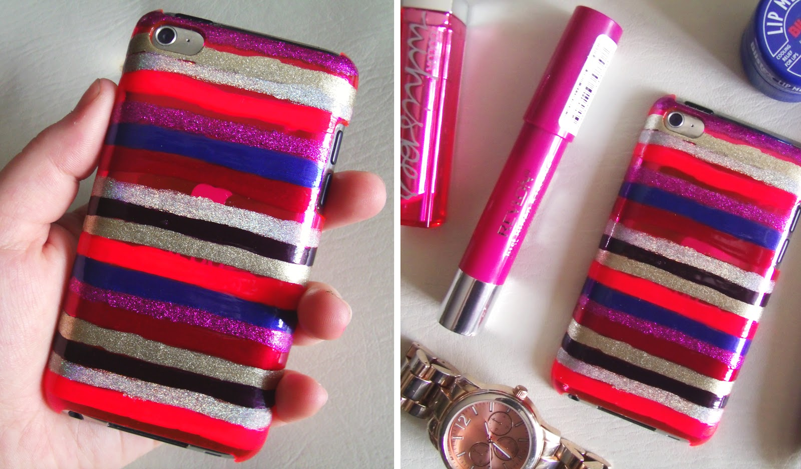 DIY: Nail Polish Striped iPhone Case | Sincerely, Sara | Style ...