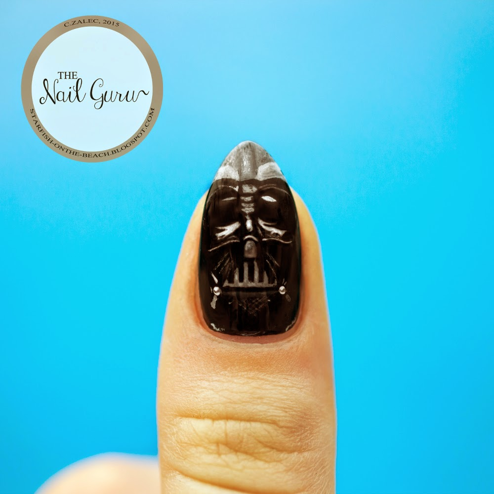 Amazing Darth Vader Nails Festooning - Nail Art Design Ideas ...