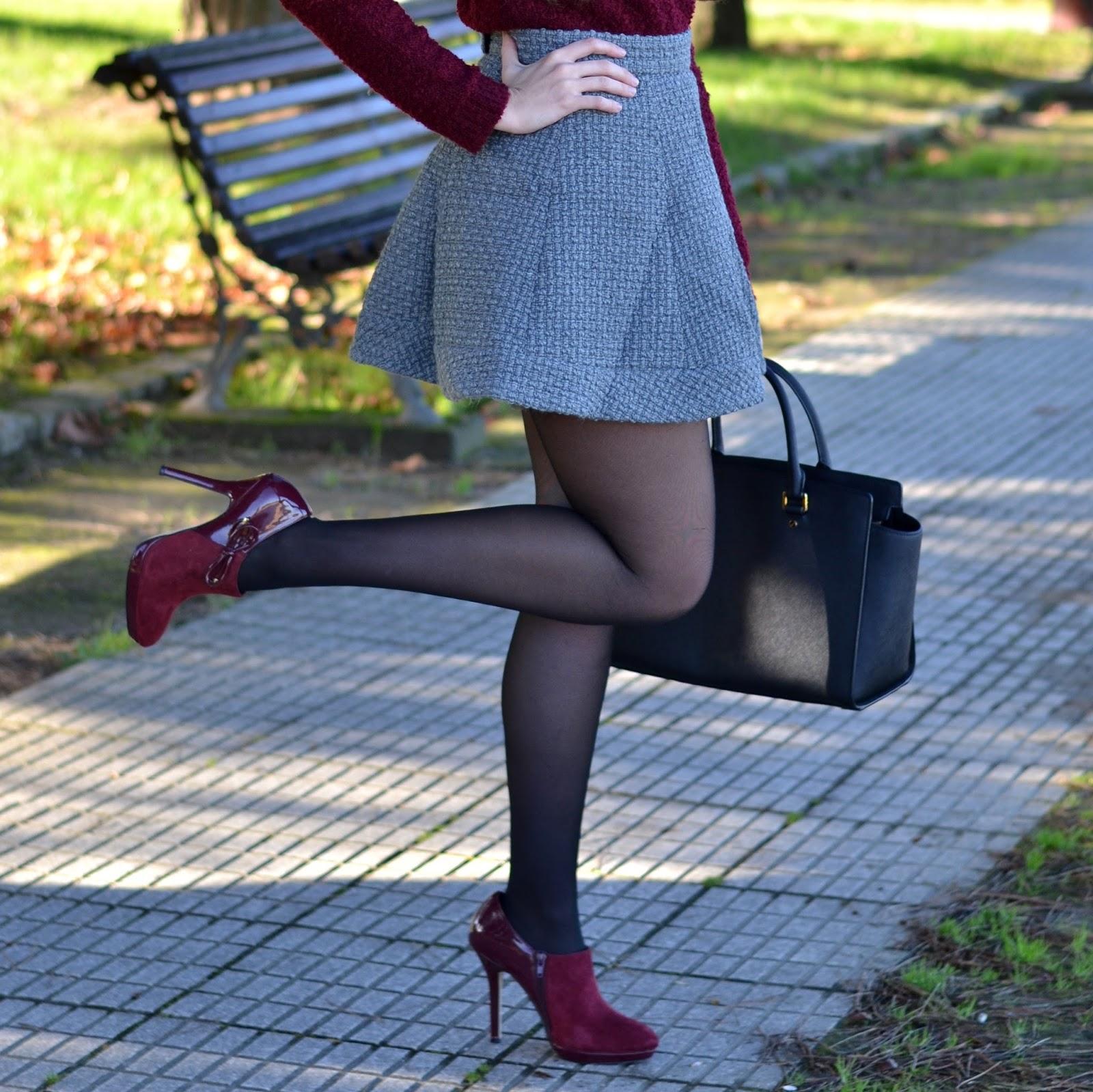botines, burgundy, zapatos, menbur