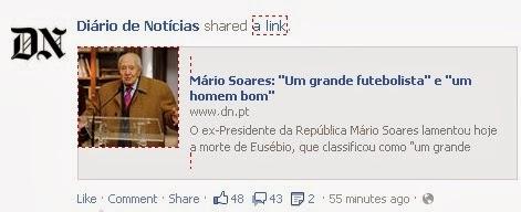 Declarações de Mário Soares sobre Eusébio censuradas pela imprensa nacional