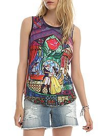 disney, beauty and the beast, tank top, hot topic