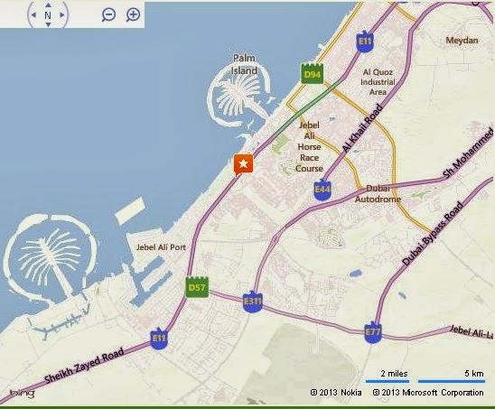 Detail Sheikh Zayed Road Dubai Location Map – Uae Map Road