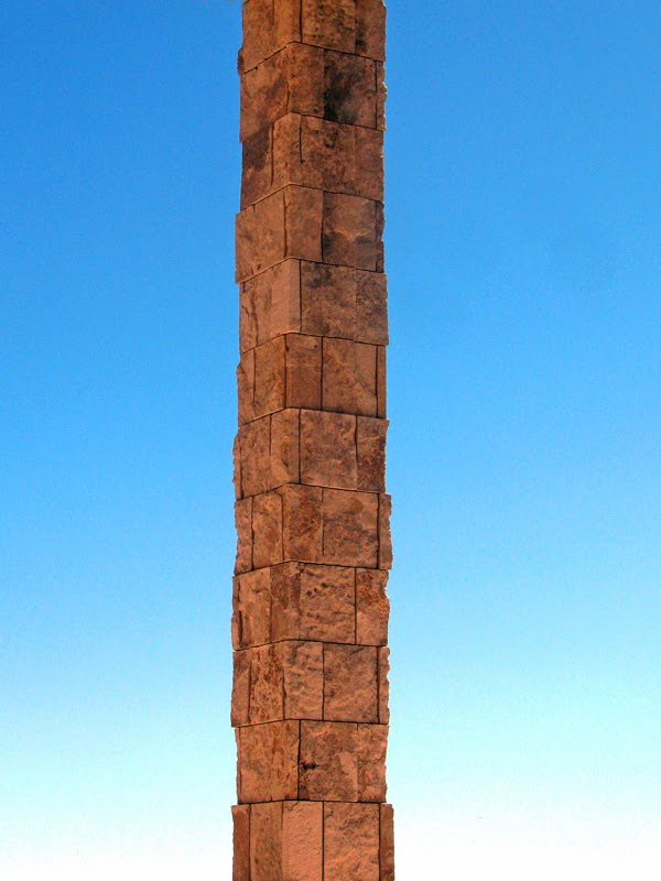 The Getty Museum - a stone column and blue sky