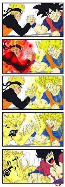 Anime Meme Naruto Amp Goku Dragonballz