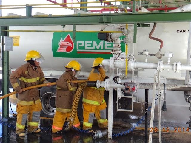 Pemex realizó simulacro contra incendio en la TAR Mérida