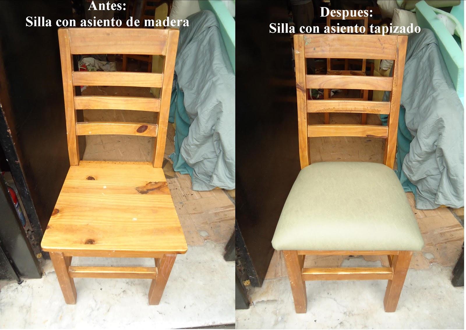 Tapiceria norte realizamos tapizado de sillas de madera for Tapizado de sillas