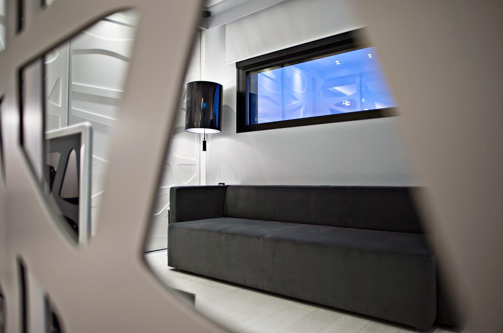 Salón dormitorio vivienda modular loft Resan