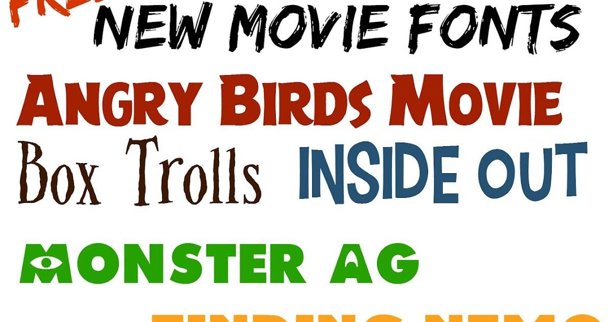 Movie box font