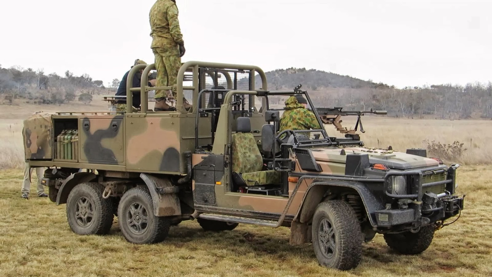 Greendef Guns Up For Australian Army 6x6 G Wagons