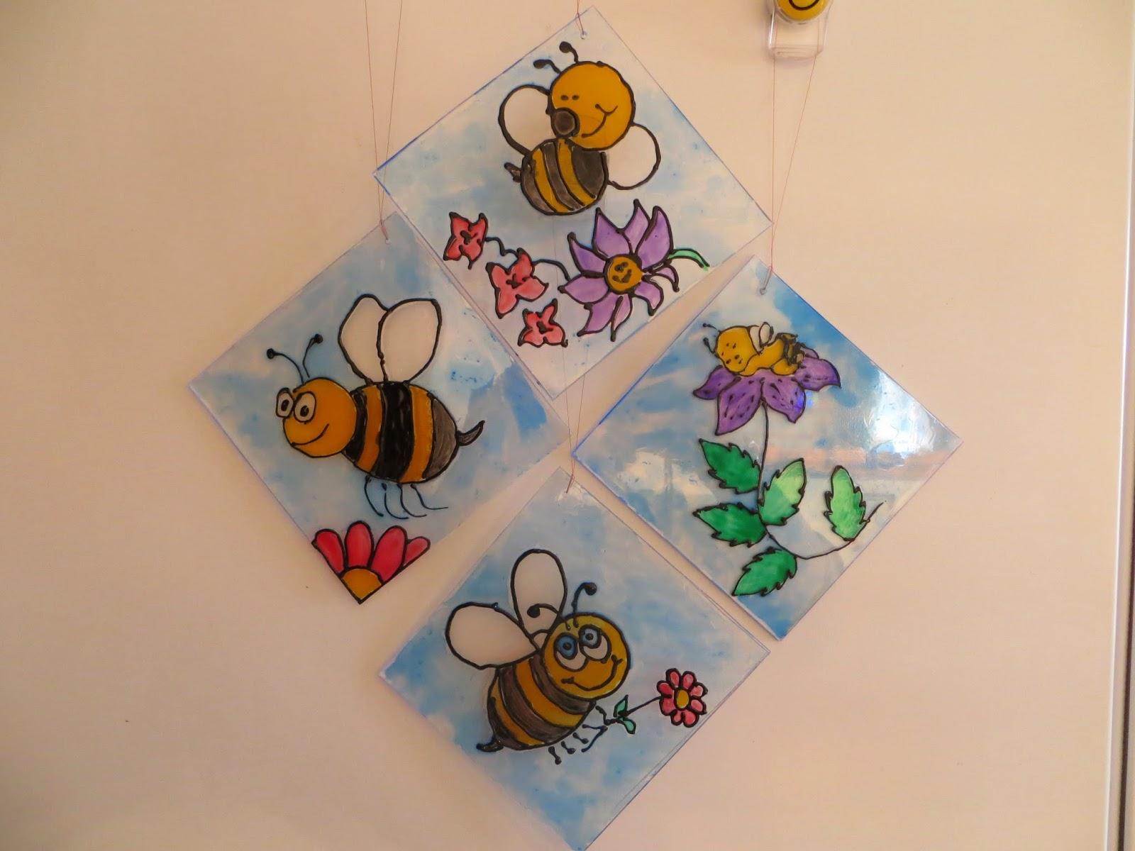 bee suncatchers