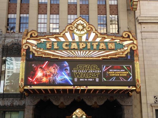 Star Wars Force Awakens Hollywood El Capitan Theatre