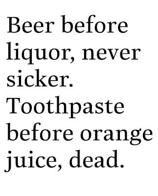 Toothpaste before orange juice, dead