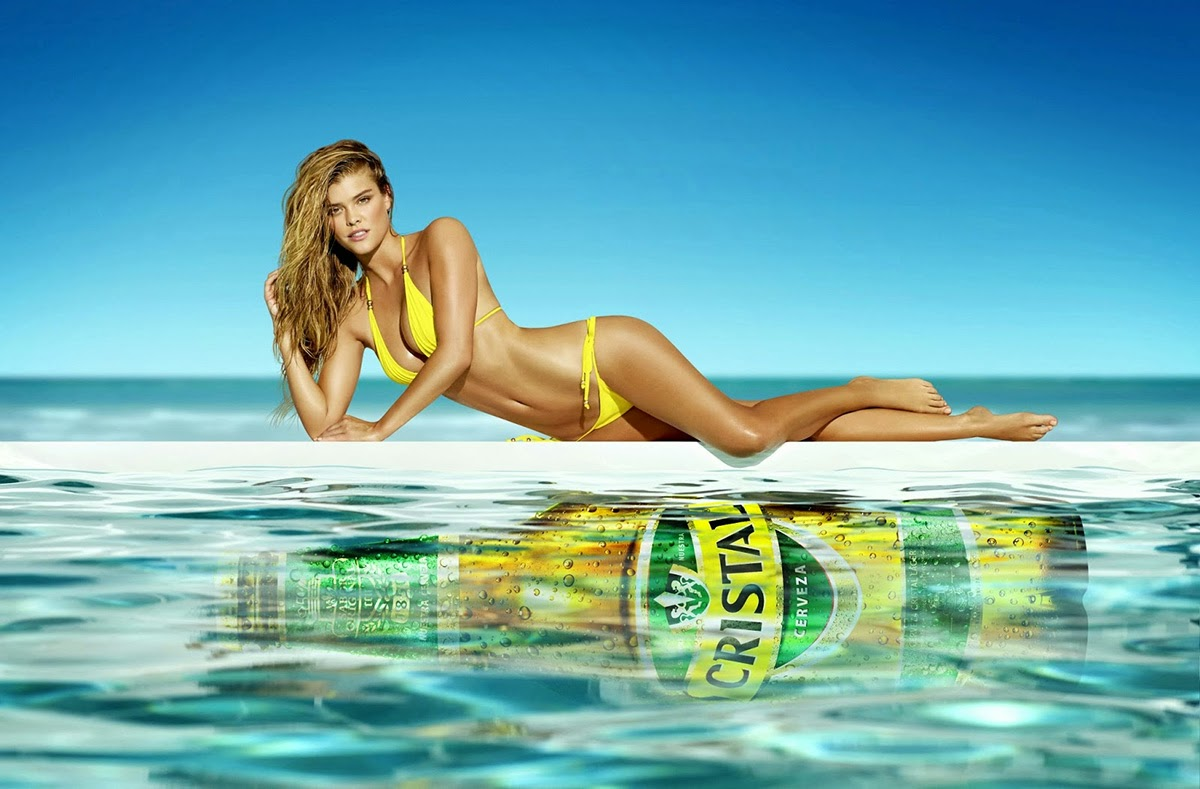 Nina Agdal Cristal Beer Ad Photoshoot 2014 HQ Pictures