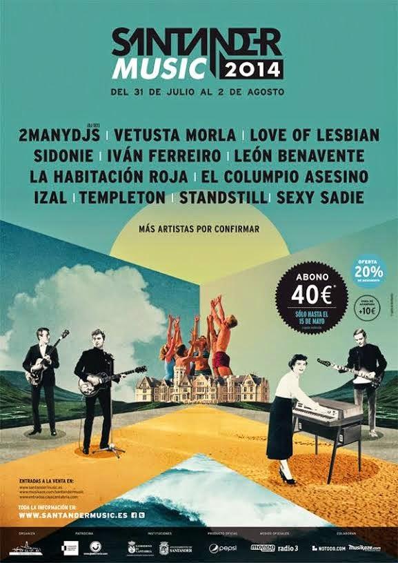 Santander Music Festival Cartel