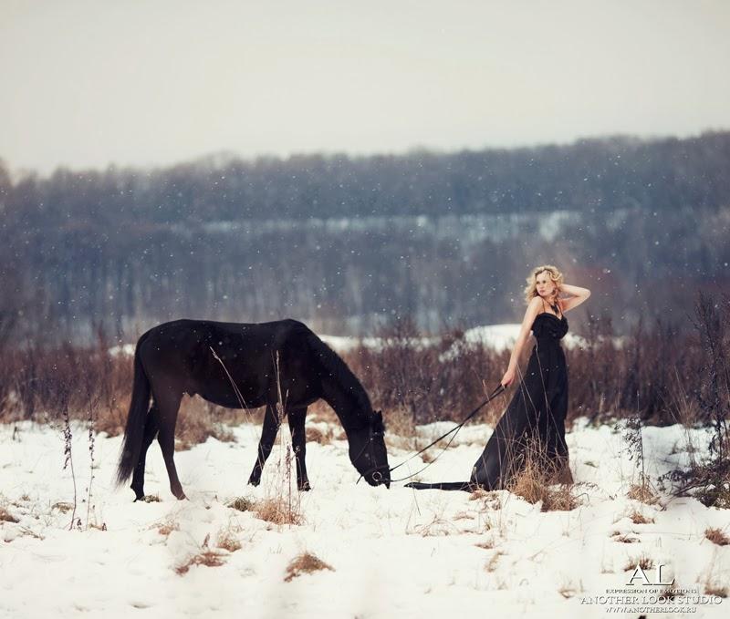 красивая зимняя фотосессия