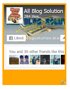 facebook like box to blogger