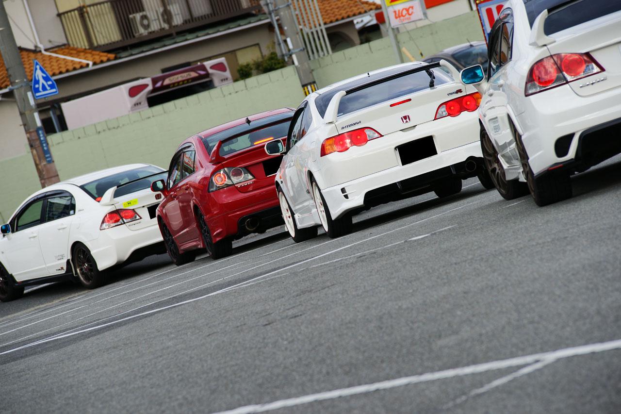 Honda Civic FD2 & Integra DC5, popularne samochody, auta z duszą, kultowe modele, japońska motoryzacja, fajne, ciekawe, typowa Honda, nuotraukos