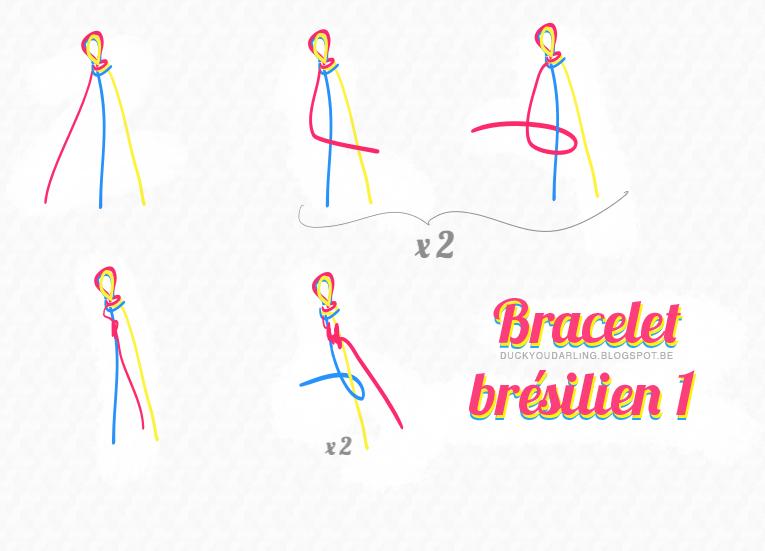 Bracelet br silien tuto 4 fils - Longueur fil bracelet bresilien ...
