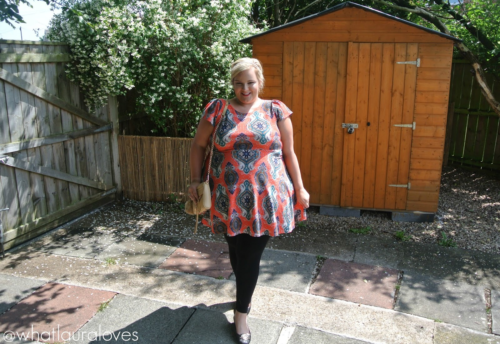 Plus Isabelle Printed Skater Dress from Boohoo