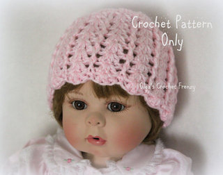 Baby Girl Crochet Hat Pattern, Size 0-3 Months, $2.45