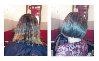 Rim, avant et après sa visite dans notre salon de coiffure à Montpellier, le Studio 54.