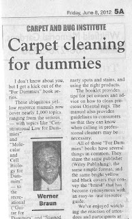 Carpet Cleaning for Dummies: a Guide to Easy Carpet Care and Cleaning