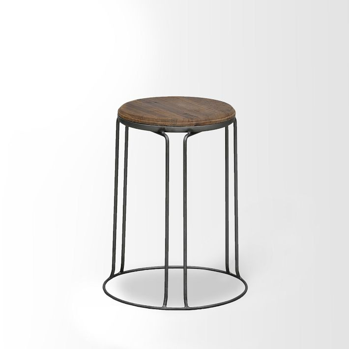 West Elm Wire Base Stool