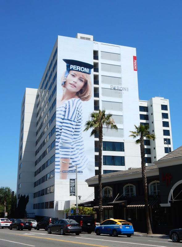 Giant Peroni Nastro Azzurro Sailor Girl billboard Sunset Strip