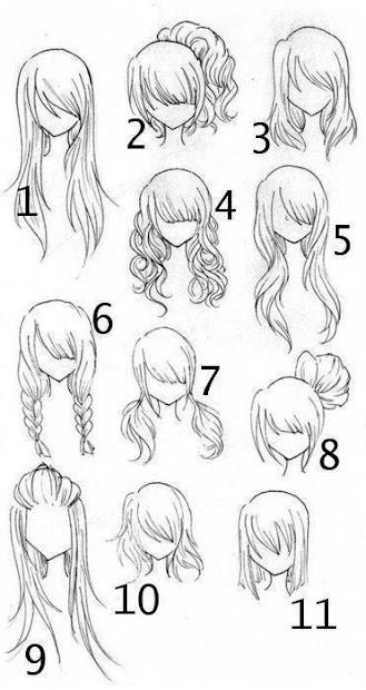 bienvenidos peinados de anime