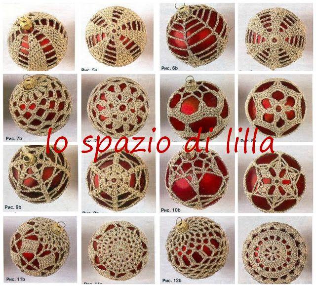 Lo Spazio Di Lilla Palline Di Natale Crochet Con Schemi Christmas