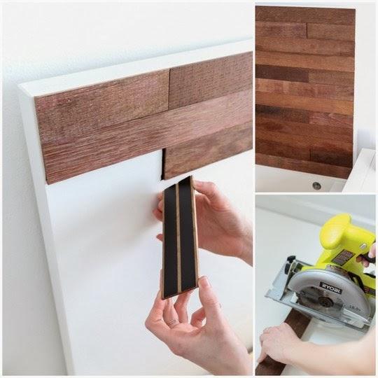 Diy cabecero c mo se hace un cabecero de laminas de - Laminas de madera para pared ...