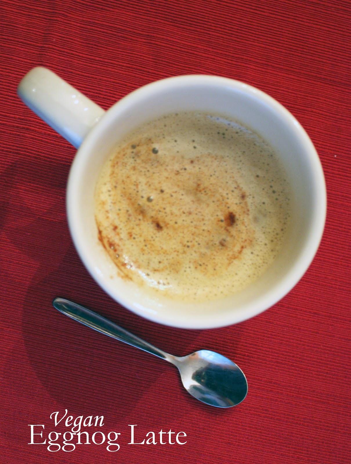 vegan eggnog latte