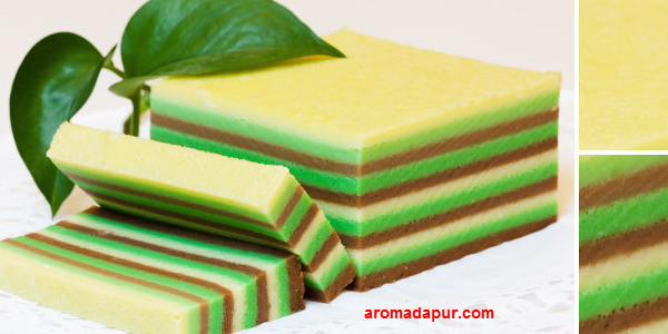 Cara Membuat Kue Lapis Tepung Beras Yang Enak aromadapurdotom