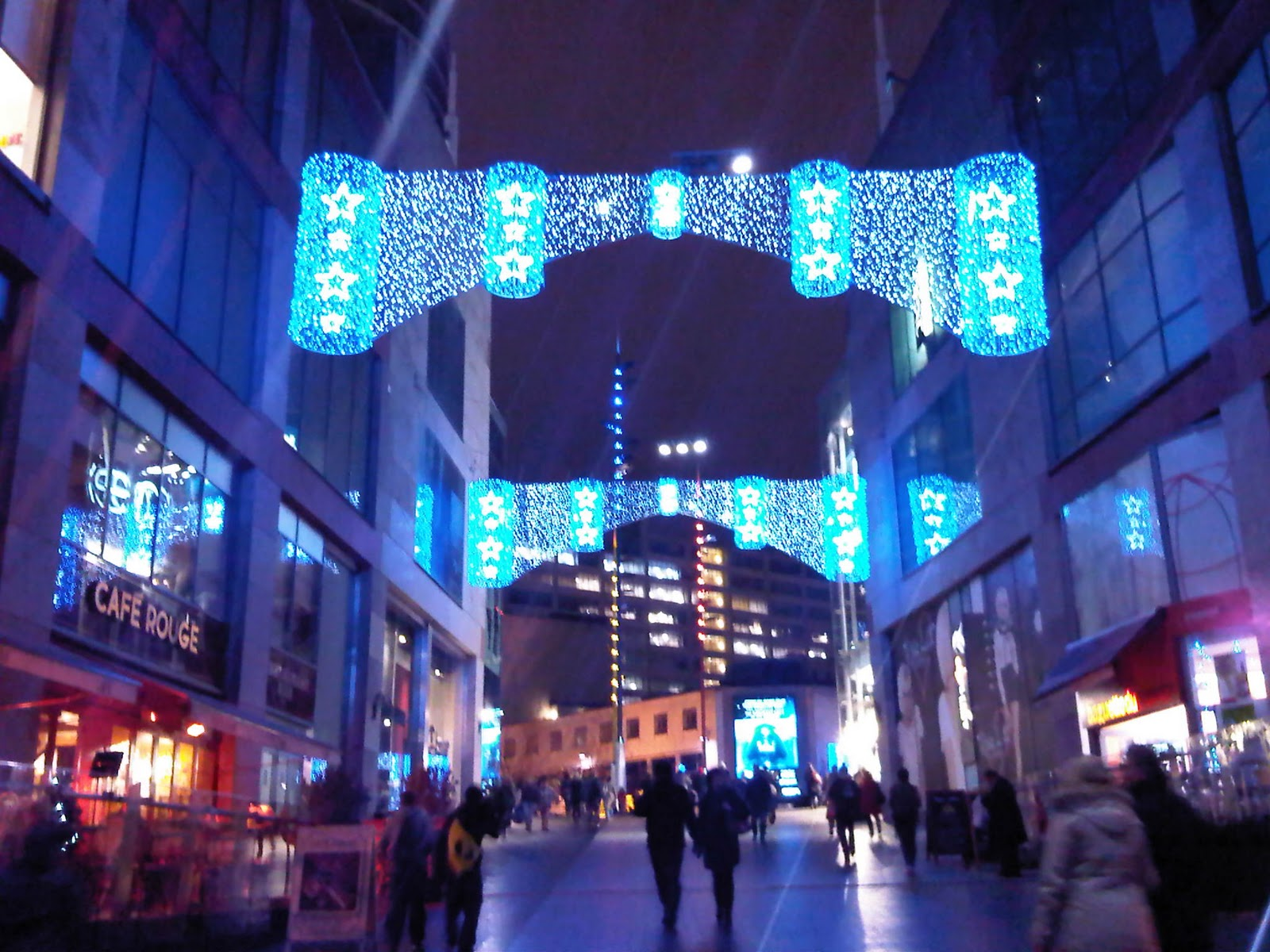 walking out of the bull ring and up towards the market this is the scene isnt it soooo pretty it was freezing but i think that made it all the more - Birmingham Christmas Market