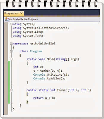 Method dengan parameter nilai