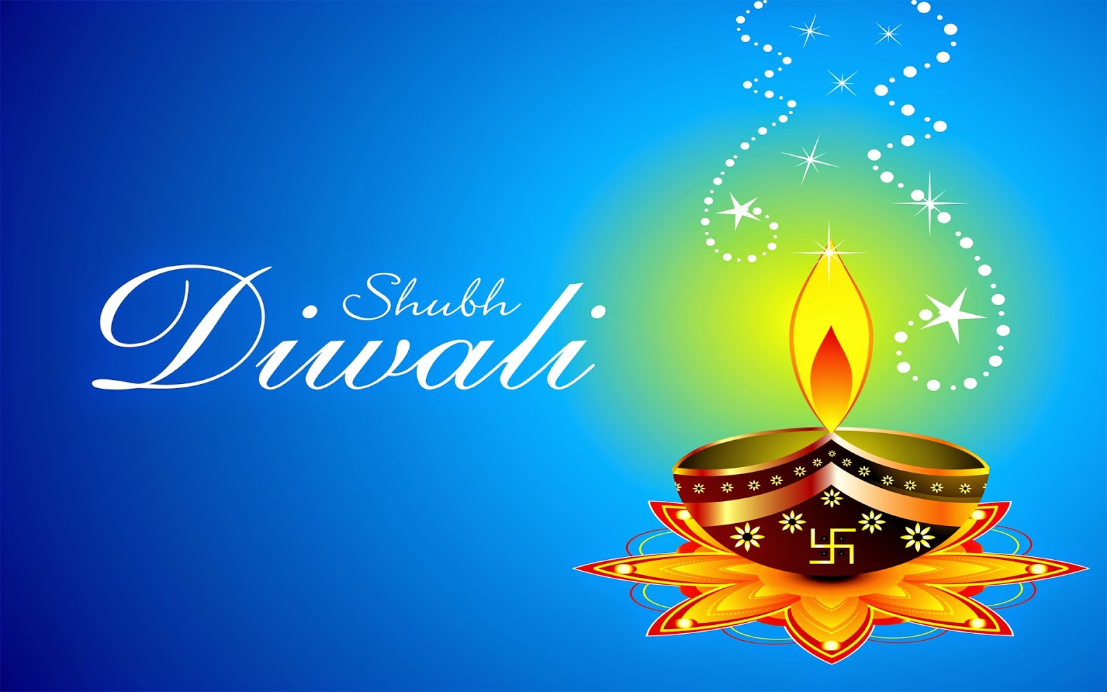 Happy Diwali with blue sky in light (Wallpaper groups)
